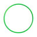 Hula Hoop 70CM Lime