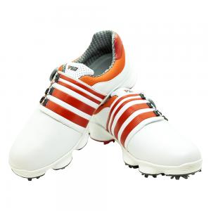 Men's Golf Shoe PGM Leather Auto-lacing - White-Orange