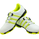 Men's Golf Shoe PGM Leather Auto-lacing – White-Lime