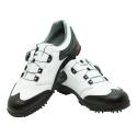 Men's Golf Shoe PGM Leather Auto-lacing White & Black
