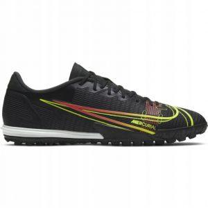 Turf Shoe Nike Mercurial Vapor Black With Lime Logo