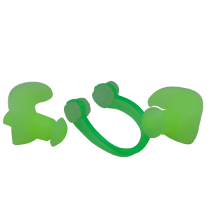 Soft Silicon Ear & Nose Plug Set Green
